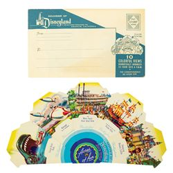 Disneyland Acres of Fun Souvenir Fan with Envelope.