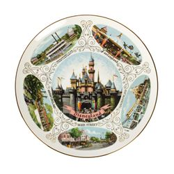 Disneyland Lands Souvenir Plate.