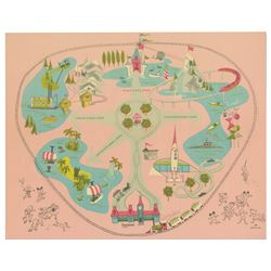 Die-Cut 3-D Disneyland Map Placemat by Hallmark.