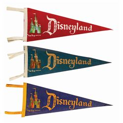 Set of (3) Disneyland Castle Pennants.