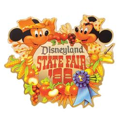 Disneyland State Fair Lamppost Sign.