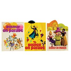Set of (3) Disney on Parade Programs.