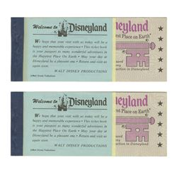 Pair of America on Parade Courtesy Guest Ticket Books.