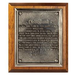 30th Anniversary Dedication Plaque Replica.