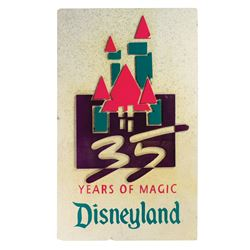 Disneyland 35th Anniversary Sign.