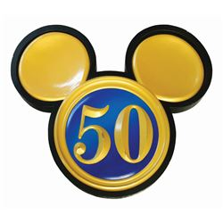 Disneyland 50th Anniversary Mickey Sign.