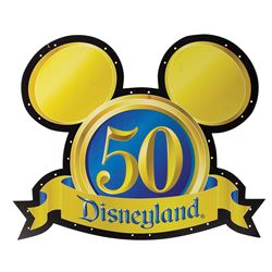 Disneyland 50th Anniversary Sign.