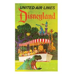 United Air Lines Disneyland Travel Poster.