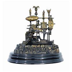 Adventureland 50th Anniversary Bronze-Tone Statue.