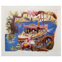 Signed Collin Campbell Jungle Cruise Print.