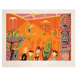 Shag Enchanted Tiki Room Interior Serigraph.