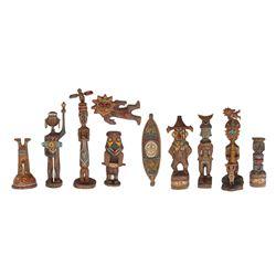 Enchanted Tiki Room Garden Gods Figure Sets 1 & 2.