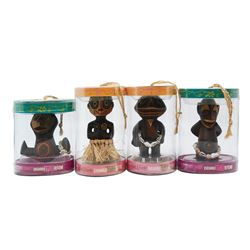 Set of (4) Enchanted Tiki Baby Figures.