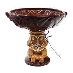 Enchanted Tiki Room Rongo Brown Drink Bowl.