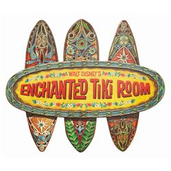 Enchanted Tiki Room 50th Anniversary Sign.
