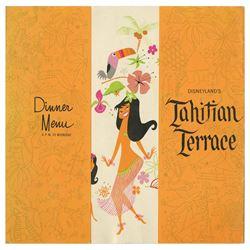 Tahitian Terrace Dinner Menu.