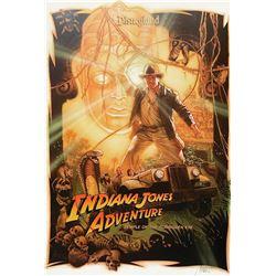 Signed Drew Struzan Indiana Jones Attraction Poster.