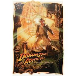 Signed Drew Struzan Indiana Jones Attraction Poster.