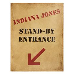 Indiana Jones Stand-by Entrance Sign.