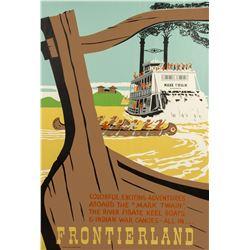 Original Frontierland Attraction Poster.