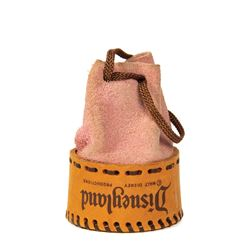 Frontierland Souvenir Leather Pouch.