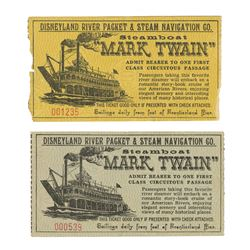 Pair of Mark Twain Admission Tickets.