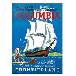 Sailing Ship Columbia Attraction Poster.