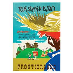 Original Tom Sawyer Island Attraction Poster.