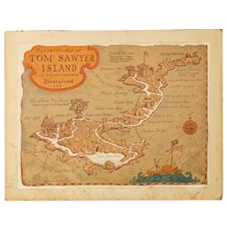 Tom Sawyer Island Map Original Artwork.