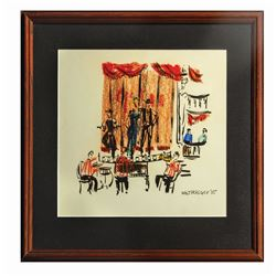 Original Walt Peregoy Golden Horseshoe Painting.