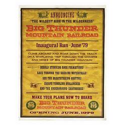 Big Thunder Mountain Inaugural Run Attraction Poster.