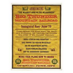 Big Thunder Mountain Inaugural Run Attraction Poster.