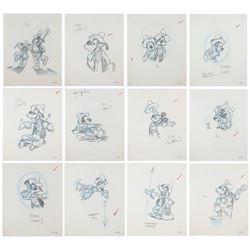 Set of (12) Big Thunder Mountain Publication Drawings.