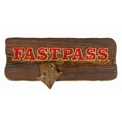 Big Thunder Mountain Railroad Fastpass Sign.