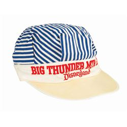 Big Thunder Mountain Railroad Striped Hat.
