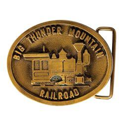 Big Thunder Mountain Railroad Metal Belt Buckle.