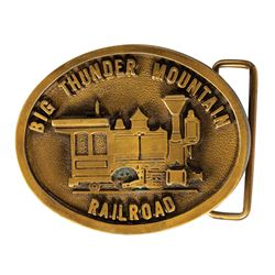 Big Thunder Mountain Railroad Metal Belt Buckle.