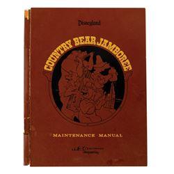 Country Bear Jamboree WED Maintenance Manual.