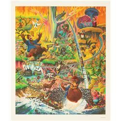 The Laffin' Place Signed Lithograph.