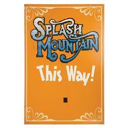 Splash Mountain Directional Sign.