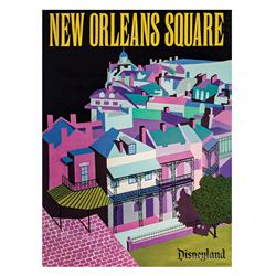 New Orleans Square Near Attraction Poster.