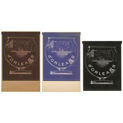 Set of Cristal d'Orleans Emblem Printing Artwork.