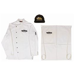 New Orleans Square Chef Coat, Apron, and Hat.
