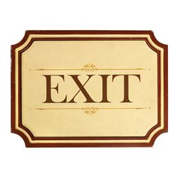 New Orleans Square Exit Sign.