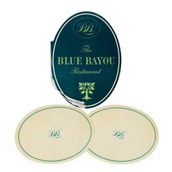 The Blue Bayou Restaurant Set of Placemats and Menu.