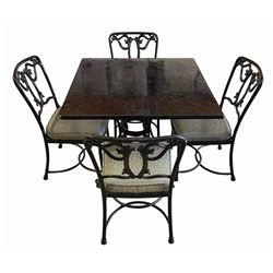 Original Blue Bayou Table & (4) Chairs.