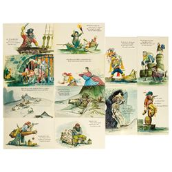Set of (12) Pirates of the Caribbean Postcards.