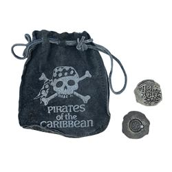 Pirates of the Caribbean Doubloons and Leather Pouch.