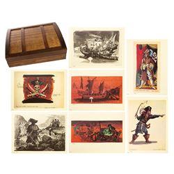 Pirates of the Caribbean Treasure Chest Print Set.