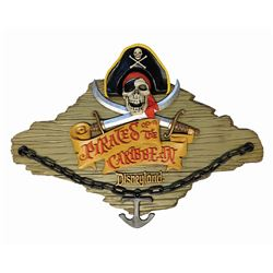 Pirates of the Caribbean Talking Wall Plaque.